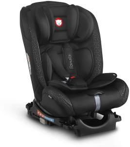 Lionelo Sander Kindersitz Auto Kindersitz Isofix in und gegen Fahrtrichtung Top Tether Autositz Gruppe 0 1 2 3 ab Geburt bis 36 kg ECE R 44 04 TÜV SÜD (Schwarz)