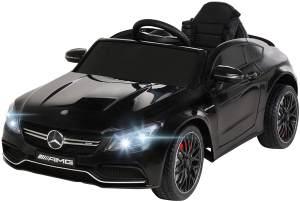 Actionbikes 'Mercedes AMG C63 Lizenziert' Kinder-Elektroauto, ab 3 Jahren, max. belastbar bis 30 kg, ca. 3-6 km/h, schwarz