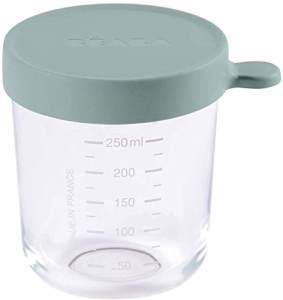 Béaba – Glas-Aufbewahrungsbehälter für Babynahrung – Skalierung – Temperaturbeständig – Aufbewahrungsbehälter für Babys und Kleinkinder – 250 ml – Hergestellt in Frankreich von Béaba – Eukalyptus grün
