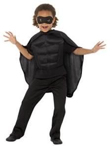 Smiffys 41167SM Superhelden-Set für Kinder, Unisex, Schwarz, S to M-4-7 Years