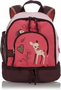 LÄSSIG Kinder Mini Rucksack mit Brustgurt, 4,5L , Rosa (Little Tree Fawn)