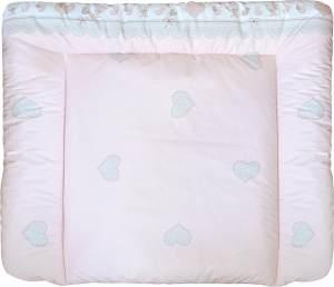 Wickelauflage Teddy rosa 80x70 cm (BxH), phtalatfrei beschichtet