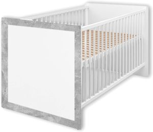 Bega 'Timo' Babybett beton/weiß 70x140 cm