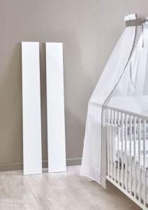 2 Umbauseiten für das Babybett 'KIM' weiß