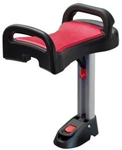 Lascal Saddle für BuggyBoard Maxi, einklappbarer und abnehmbarer Sitz, Kinderwagen Zubehör für Maxi-Modelle ab 2011, bequeme Sitzmöglichkeit für Kinderbuggys, rot