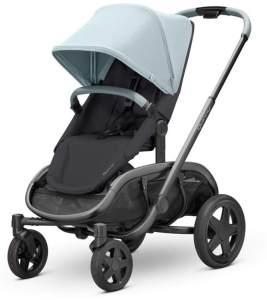 Quinny Hubb Mono XXL Shopping-Kinderwagen, großer Einkaufskorb, einfach klappbarer Kinderwagen, nutzbar ab ca. 6 Monate bis ca. 3,5 Jahre, Frost on Black