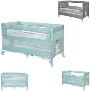 Lorelli Baby Reisebett Up´n Down, Öffnung, 2 Ebenen, Tragetasche, mit Rädern blau
