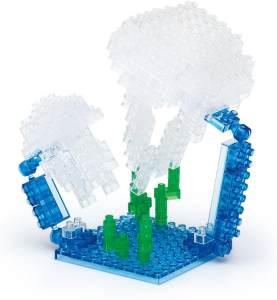 nanoblock - Moon Jellyfish / Ohrenqualle, Minibaustein 3D-Puzzle, Mini Collection Serie, 150 Teile, Schwierigkeitsstufe 2, mittel