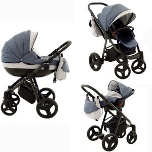 Lux4Kids Kombikinderwagen 2 in 1 Mountain inkl. Babywanne ohne Babyschale