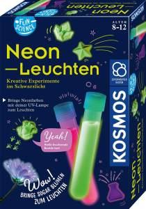 Fun Science - Neon-Leuchten, Kreative Experimente im Schwarzlicht, Experimentier-Set für Kinder ab 8 Jahre