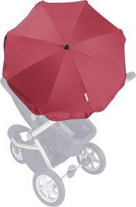 Playshoes Kinder UV Sonnenschirm für Kinderwagen, rot, One Size