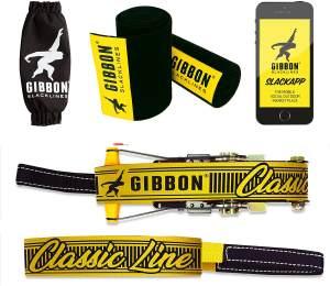 Gibbon Slackline Classic Line XL mit Baumschutz