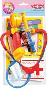 Heless 53 - Doktorspielset mit Stethoskop und weiterem Zubehör, in 2 Varianten, sortiert, für Kinder