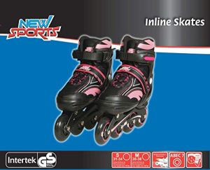 New Sports Inliner Pink, ABEC 7, Gr. 31-34