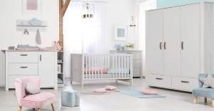 Roba 'Mila' 3-tlg. Kinderzimmerset grau weiß