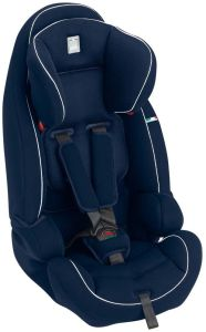 CAM 'Le Mans' Kindersitz Gruppe 9-36 kg Blau / Weiße Nähte