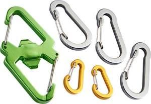 HABA 303614 - Terra Kids Karabiner-Set, Karabiner für Kinder, Outdoor-Tool für Kinder, zum Befestigen von leichten Gegenständen am Gürtel oder Rucksack