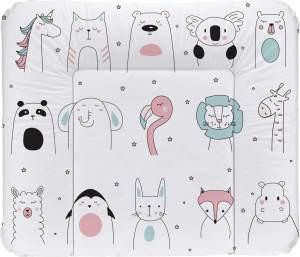 Rotho Babydesign Wickelauflage Happy Faces, Ab 0 Monate, TOP, 85 x 72, Weiß, 20062 0001 CX