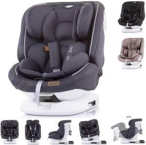 Chipolino Kindersitz Rotix Gruppe 0+/1/2/3 (0 - 36 kg) mit Isofix, 5-Punkt-Gurt grau
