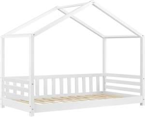 en. casa Hausbett 80x160 Weiß, inkl. Lattenrost
