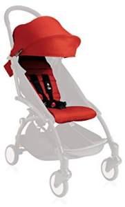 Babyzen YoYo+ 6+ Color Pack Sonnendach und Sitzauflage, Rot