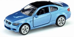 SIKU 1450, BMW M3 Coupé, Metall/Kunststoff, Blau, Spielzeugauto für Kinder, Öffenbare Türen