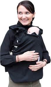 manduca by MaM Fleece Cover & Fleece Loopschal für Babytragen (Snuggle Cover Black)
