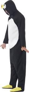 Smiffys 23632XL - Pinguin-Kostümes mit Kapuze All in One