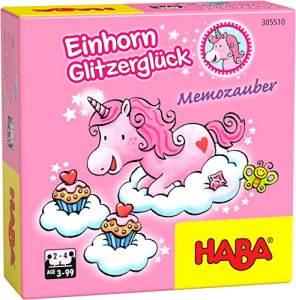 HABA 305510 Einhorn – Glitzerglück Memozauber