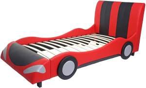 Mendler Autobett 190x100cm schwarz-rot