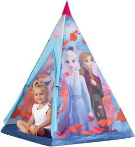 John 75107A Kunststoffstangen Disney Eiskönigin Tipi Spielzelt, Kinderzelt, Spielhaus mit Frozen 2 Motiv, lila
