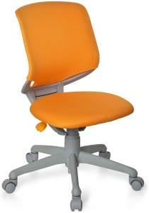 hjh OFFICE 712050 Kinder-Schreibtischstuhl Kid Move Grey Netzstoff Orange/Grau Drehstuhl ergonomisch, Rückenlehne verstellbar