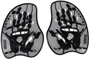 arena Unisex Schwimm Wettkampf Trainingshilfe Hand Paddle Vortex (Ergonomisch, Für Kraft- und Techniktraining), Silver-Black (15), L