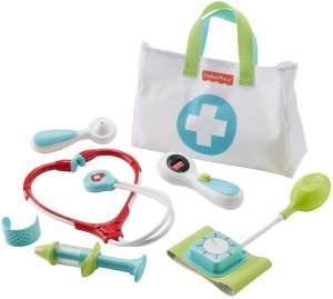 Fisher-Price DVH14 Arzttasche 7-teiliger Doktorkoffer zum Rollenspiel, ab 3 Jahren