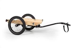 Klarfix Lastenanhänger Schwarz / Holz, bis zu 40kg belastbar