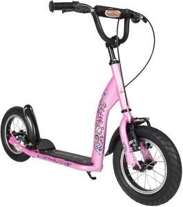 BIKESTAR Roller Kinderroller Tretroller Kickscooter mit Luftreifen für Mädchen ab 6-7 Jahre   12 Zoll Sport Kinder Scooter   Pink