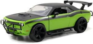 Jada 253203043 Letty's Dodge Challenger SRT8 grün/schwarz - Fast & Furious Maßstab 1:24