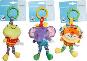 SpielMaus Baby Activity Spieltier Kinderwagen, 3-fach sortiert, keine Auswahl möglich