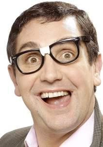 Smiffys - Trottelbrille Brille Trottel gebrochen geflickt