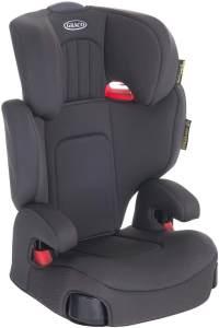 Graco Assure Kindersitz Gruppe 2/3, 15-36 kg, 4 bis 12 Jahre, Kopfstütze verstellbar, inkl. Seitenaufprallschutz, Getränkehalter, Midnight Grey
