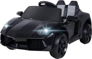 Actionbikes Motors 'Super Sport' Kinder-Elektroauto, schwarz, mit vielen Funktionen und Features, inkl. Fernbedienung, ab 3 Jahren