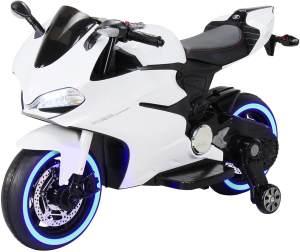 Elektromotorrad Ducati Style Kinderauto Kinderbike Elektrofahrzeug Spielzeug 35W (Weiß)