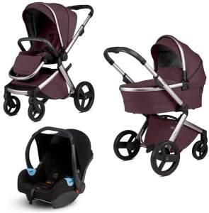 Anex 'l/type' Kombikinderwagen 4plusin1 2020 in Purple, inkl. Babywanne, Babyschale, Sportsitz
