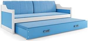 Interbeds 'David' Funktionsbett blau/weiß 90x200cm