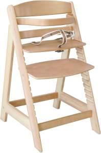 Roba 'Sit Up III' Treppenhochstuhl, natur, höhenverstellbar, mit Sicherheitsbügel und Gurtsystem, bis 50 kg belastbar