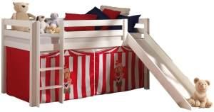 Pino Spielbett Weiß lackiert 90x200 cm Zirkus Softdeluxe