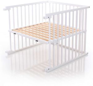 Babybay Kinderbett-Umbausatz für Original, weiß lackiert