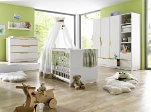 GEUTHER 'Fresh Bunt' 3-tlg. Kinderzimmer-Set mit 3-trg. Schrank