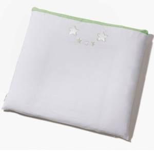 Easy Baby 'Stars' Wickelauflage mit Stoffbezug weiß/grün