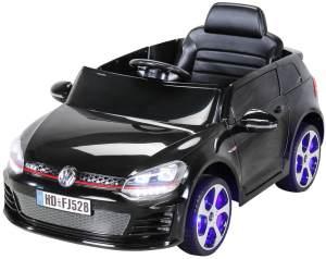 Elektroauto VW GOLF GTI Kinderauto Kinderfahrzeug Kinder Elektro Auto Fahrzeug (Schwarz)